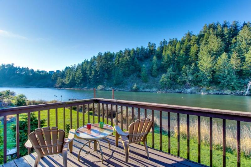 Dog-friendly riverside cottage with backyard firepit & kayak launch! - Image 1 - Pacific City - rentals