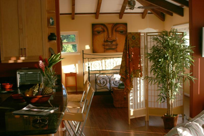 This restful sanctuary is known as the ZEN Treehouse - Magnificent, Quiet Serene Tropical Hideaway, steps from #1 Best Beach in the USA - Waimanalo - rentals