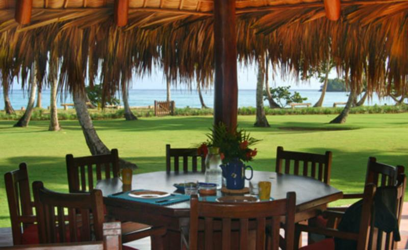 Breakfast table prepared for you - Boutique Style on Beach,  Beach House Walrus - Las Terrenas - rentals