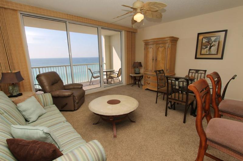 Elegantly Decorated Living Area - Great Gulf Views - Majestic Beach Resort T1 Unit 813 - Panama City Beach - rentals