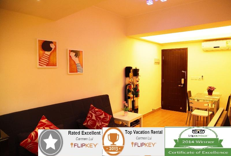 Award based on excellent reviews and high marks receive in traveler reviews. - Causeway Bay MTR & Times Square - Hong Kong - rentals
