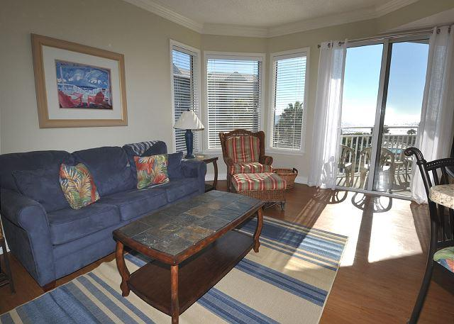 Main Living Area - 1305 SeaCrest - Pretty Oceanviews, 3rd Floor and Recently Updated - Hilton Head - rentals
