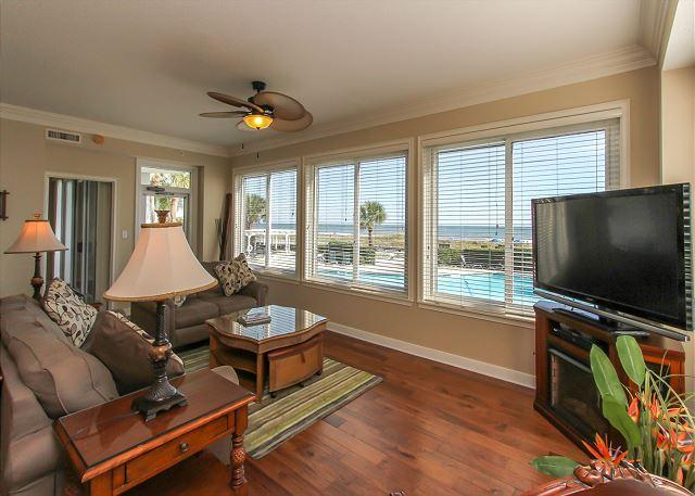 Main Living ARea - 3101 SeaCrest-FULLY RENOVATED & more! March/April Outdoor Heated Pool - Hilton Head - rentals