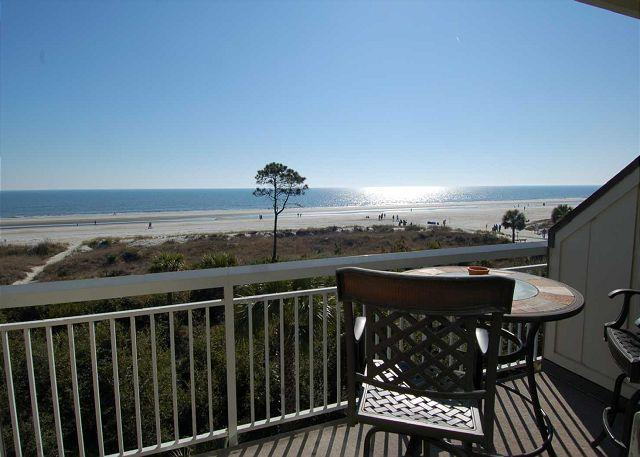 View - 313 Breakers-Direct Oceanfront, you can't beat this view! Oceanfront Pool - Hilton Head - rentals