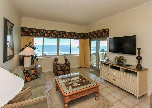 Main Living Area - 454 Captains Walk - Oceanfront 5th Floor - Its all about the View. - Daufuskie Island - rentals