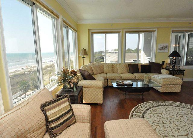 Main Living Area - 3501 SeaCrest - Oceanfront 5th Floor Penthouse. WoW views! - Hilton Head - rentals