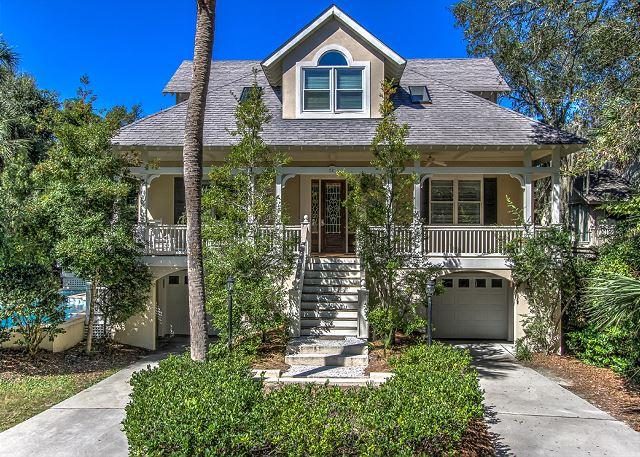 Exterior - 72 Dune Lane - 2nd Row Ocean (Less than 20 yards to the beach) Very Spacious - Hilton Head - rentals