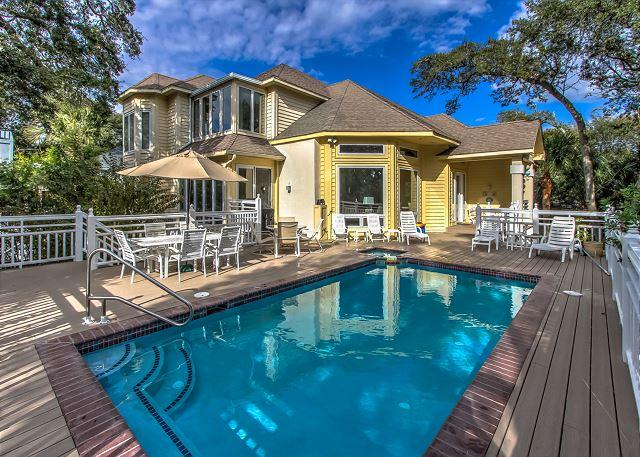 Exterior - 130 Dune Lane - 2nd Row Ocean - Avail 4/25 & 5/2 weeks - FREE Pool/Spa Heat - Hilton Head - rentals