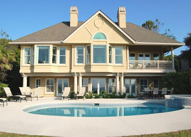 Oceanside Exterior - 11 Flotilla- Oceanfront & Beautiful- 2 Living Area & Gourmet Kitchen - Hilton Head - rentals