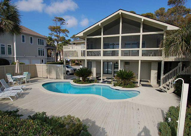 Exterior - 13 Dune Lane - Oceanfront  & Large Screened Porch. Available 8/27 Week - Hilton Head - rentals