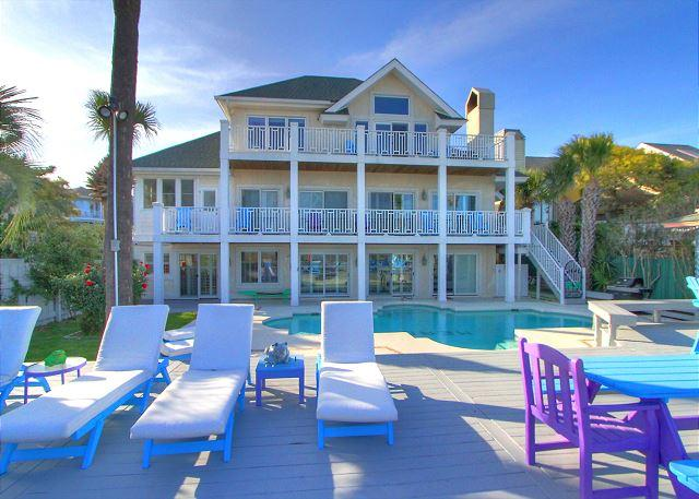 Exterior - 89 Dune Lane-7 Bedrooms, OCEANFRONT. Book Now for the Fall. - Hilton Head - rentals
