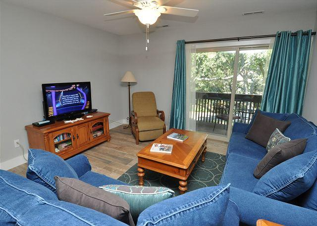 Living Area - 1691 Bluff Villas-Fully Renovated, Quick Walk to the  beach & Marina Area - Hilton Head - rentals