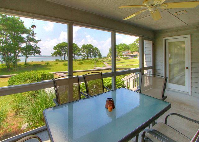 Screened Porch & View - 9 Lands End Road -  4 Bedrooms & Waterfront (Calibogue Sound Views). - Hilton Head - rentals