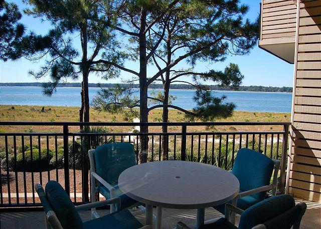 Balcony - 1874 Beachside Tennis - Breathtaking waterfront views from every room. - Hilton Head - rentals