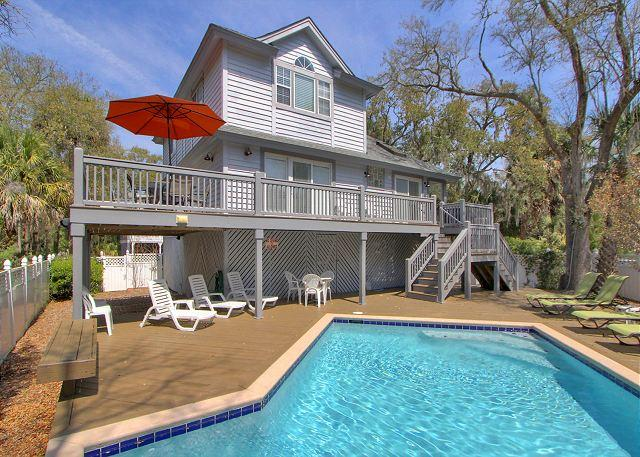 2 Sea Spray-Just Steps to the Beach 2nd Row Ocean w/ Hot Tub & Pool - Image 1 - Hilton Head - rentals