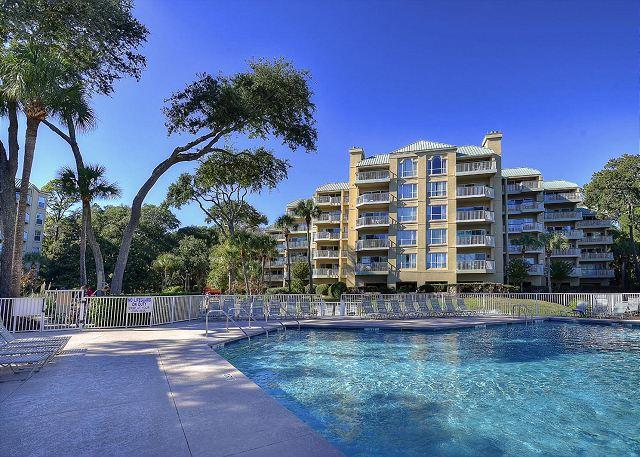Poolside Exterior - 206 Barrington Arms-Oceanfront Views. Summer Weeks Available. - Hilton Head - rentals