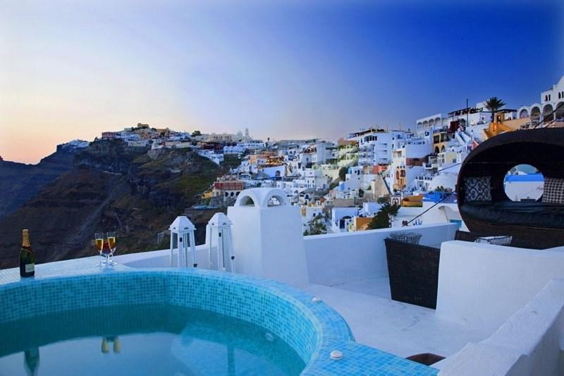 Fira - Blue Villas | Blue Angel | Caldera view in Fira - Fira - rentals