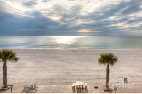 View from the Third Floor Shared Balcony - 311 - Sunset Chateau - Treasure Island - rentals