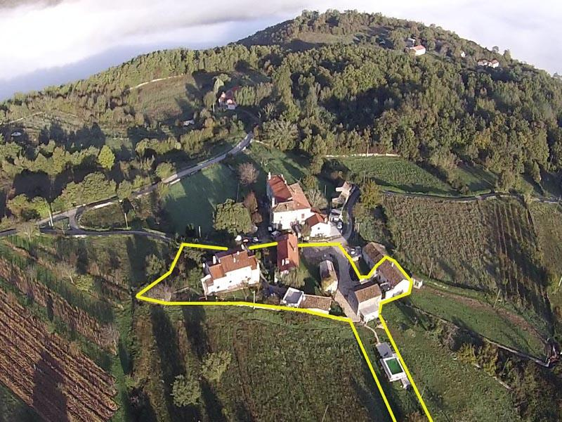 the property - farmhouse with pool, air conditioned, sleeps 2 to 15 in 4 apartments - Nedescina - rentals