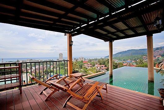 Elevated sea view 3 bed villa at Karon - Image 1 - Karon - rentals