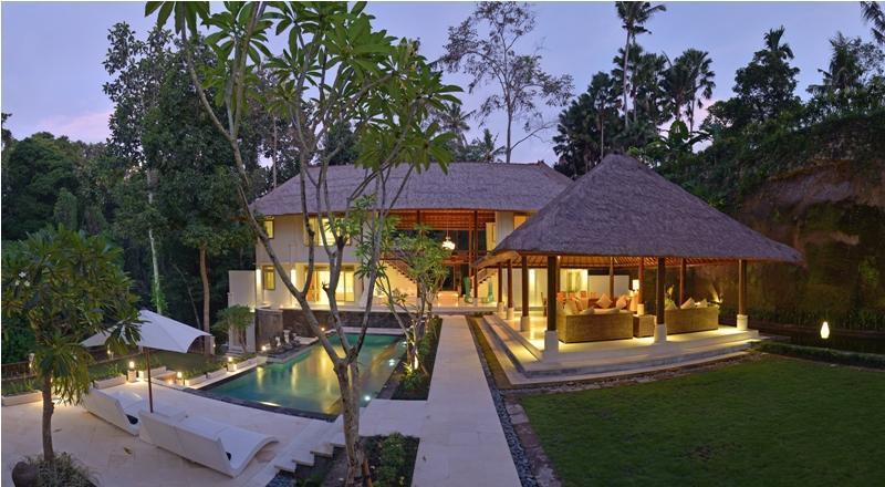 Villa and Pool view - Jewel, Lux 5BR stunning villa in nature, Canggu - Cepaka - rentals