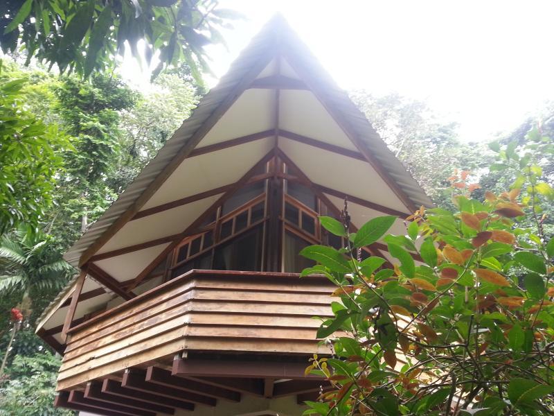 Mermaid House Living Room Deck - Mermaid House in Playa Chiquita, Costa Rica - Punta Uva - rentals