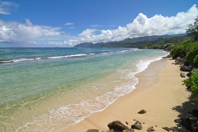 views of the beach at medium tide - Beachfront Paradise 3 br/2ba  On Beach, private wi - Laie - rentals
