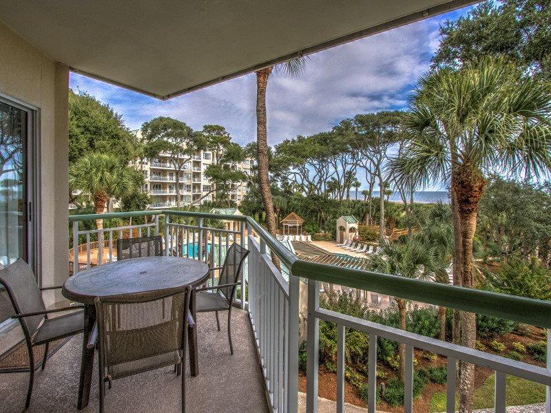 Balcony at 211 Windsor Place - 211 Windsor Place - Palmetto Dunes - rentals
