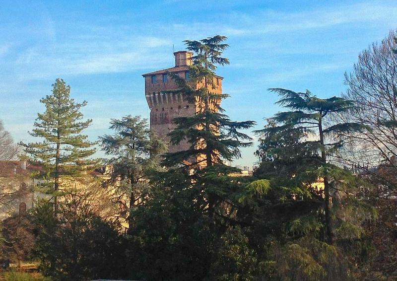 View on Giardini Salvi and the Tower - Vicenza Rental with equipped terrace, Garden View - Vicenza - rentals