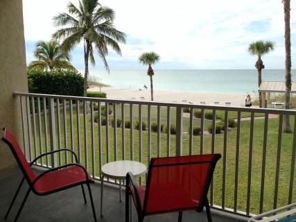 Balcony view to the beach - BEACH VIEW CONDO - Longboat Key - rentals