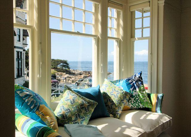 Welcome to The Yellow House! Imagine sitting here gazing out at the bright blue sea and relaxing! This stunning and beautifully remodeled vintage Victorian is almost oceanfront. - 3118 Yellow House Main ~ Almost Oceanfront, Ocean Views, Sounds of the Sea - Pacific Grove - rentals