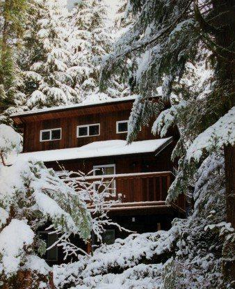 The front of Cabin 6 - Snowline Cabin #6 - A HOME AWAY FROM HOME WITH A OUTDOOR HOT TUB with Wi-Fi - Glacier - rentals