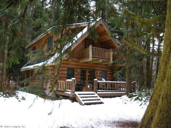 The front of Cabin 10 - Snowline Cabin #10 - Log cabin at its best! - Glacier - rentals