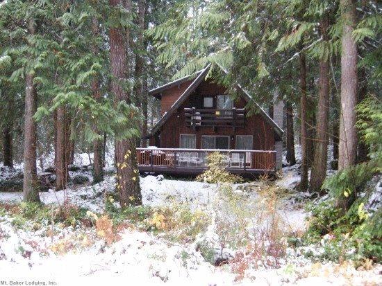 Front view of cabin 27 - Glacier Springs Cabin #27 - A private 2-story cedar cabin now has Wi-Fi - Glacier - rentals