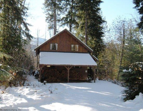 Front of Cabin 44 - Mt. Baker Rim Cabin #44 - A COZY RUSTIC CABIN WITH MODERN CHARM - Glacier - rentals