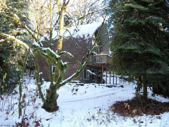 The front of Cabin 9 - Mt. Baker Rim - Cabin #9 - Spacious cabin with a hot tub and balcony! - Glacier - rentals