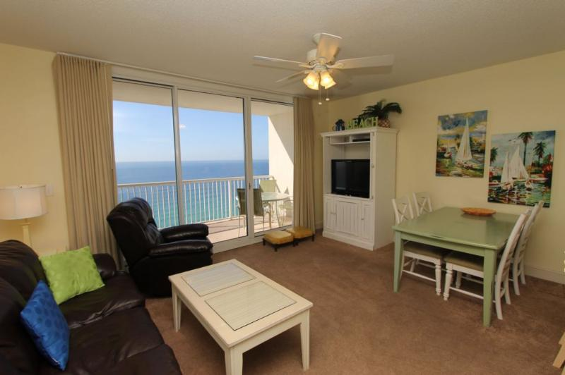 Beachy Living Area with Indescribable Gulf View - Located at Majestic Beach Resort 2BR on Gulf - Panama City Beach - rentals