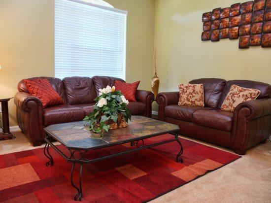 Living Area - GB4P16701RGD 4 BR Cozy Pool Home Near Orlando Attractions - Orlando - rentals