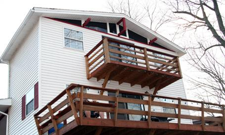 Decks on back of house - Cooper's Cottage at Barren River Lake, Kentucky - Scottsville - rentals