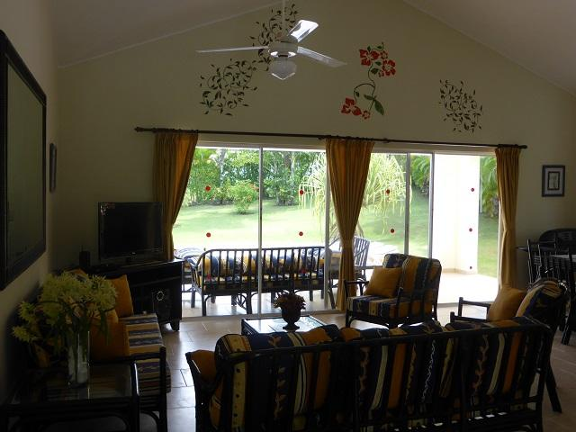 Large 4 bedroom villa!!!!!!!!!!! completely private!! This villa has just been redecorated now with safes and flatscreen tvs in every bedroom! This villa is equiped with lovely covered terrace overlooking an enormous tropical garden with a huge pool. this - Image 1 - Sosua - rentals