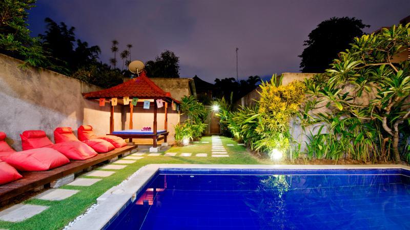 Enjoy the large tropical gardens and pool with plenty of room for friends and family - Santai Villa - 300 METERS TO SEMINYAK LEGIAN BEACH - Seminyak - rentals