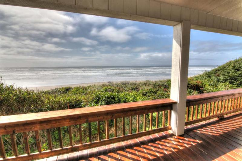The Sunset Beach House by Sweet Homes Rentals  - Oceanfront Home w/ Hot Tub on Miles of Sandy Beach - Yachats - rentals