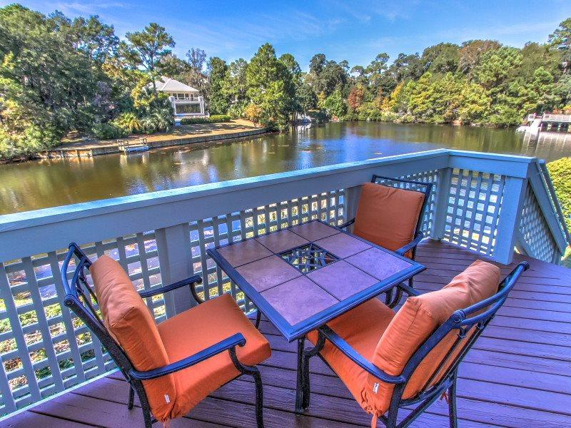 Deck with Lagoon Views at 7643 Huntington - 7643 Huntington - Hilton Head - rentals