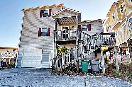 Street Side Exterior - Doyle's Solitude - Formerly Hoffman Cottage,1326 S Shore Dr, Surf City, NC, SAVE $115!! - Surf City - rentals