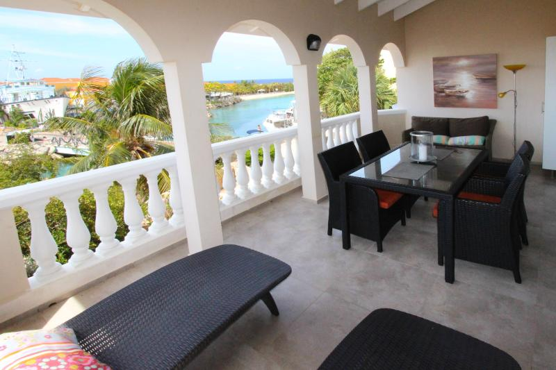 Large Balcony with sea view - OCEAN SKY - 2 bedroom penthouse with ocean view - Willemstad - rentals