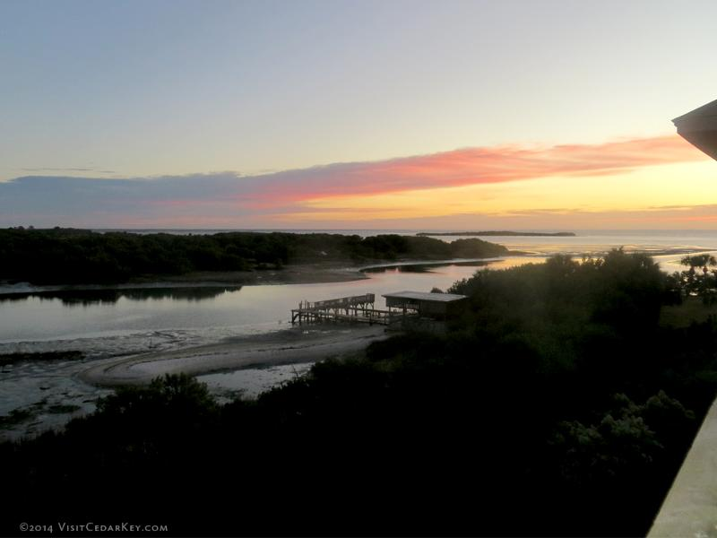 Sunrise from Tranquility's balcony in December 2014. - Tranquility Amazing VIEW! Book Summer NOW! - Cedar Key - rentals
