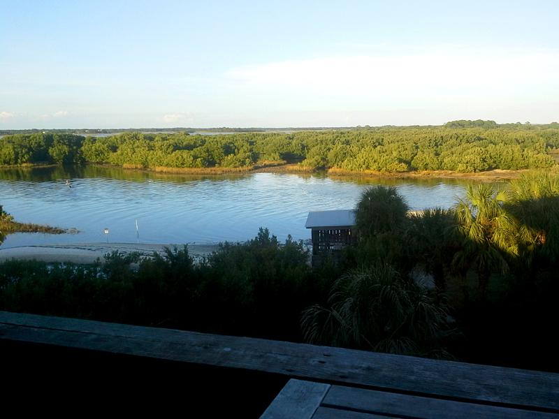 View from Serenity's balcony in December 2014. - Special Rates  Serenity: Ocean View! Walk to Town - Cedar Key - rentals