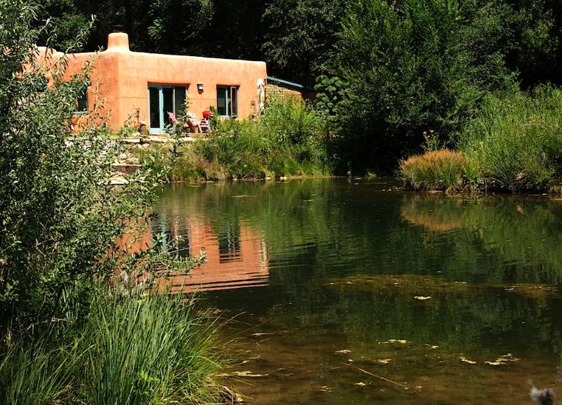 The casita sits on the edge of a half acre pond on an eight acre property with trails and a river - Paradise Pond Casita - Chimayo - rentals