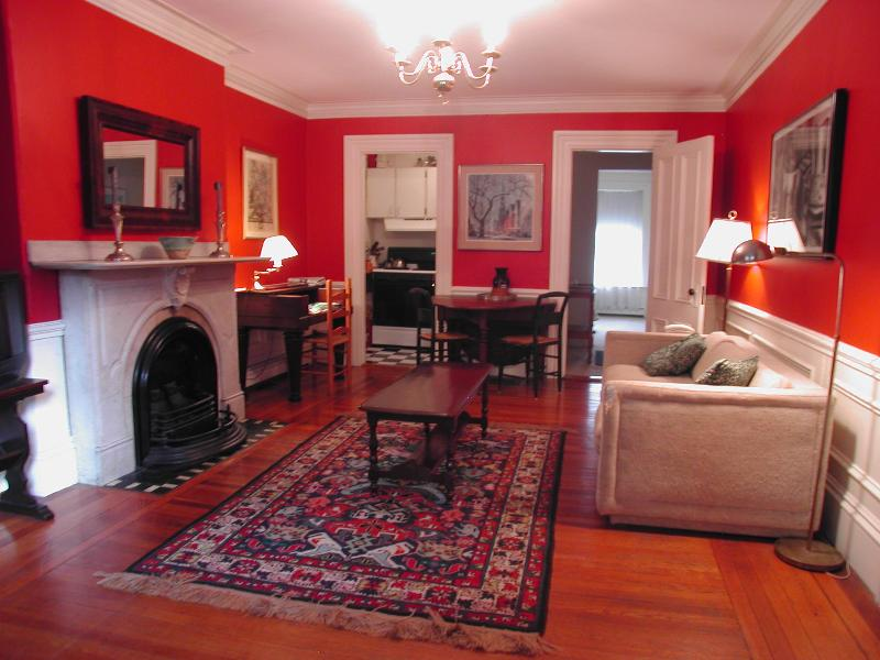 Living Room toward Kitchen and Bedroom - South End Suite (M365-1) - Boston - rentals