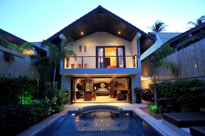 Villa Tawan exterior at night - Beachside Luxury Villa Tawan - Mae Nam - rentals